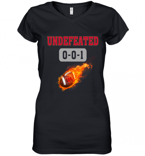 NFL ARIZONA CARDINALS Logo Undefeated Women's V-Neck T-Shirt
