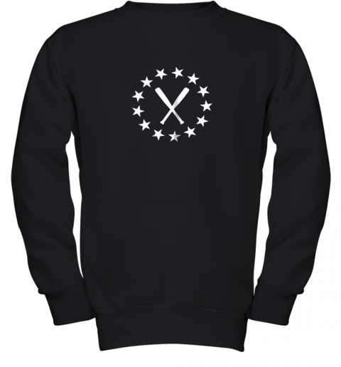 Baseball with Bats Shirt Baseballin Player Gear Gifts Youth Sweatshirt
