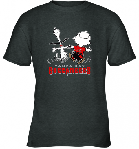 Snoopy And Charlie Brown Happy Tampa Bay Buccaneers Fans Youth T-Shirt