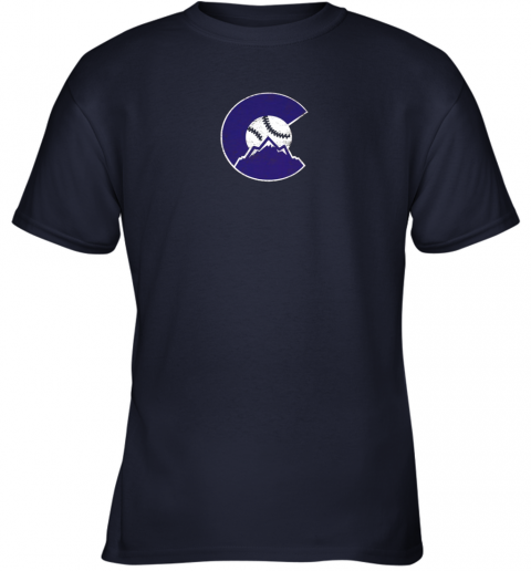 u72s colorado rocky mountain baseball sports team youth t shirt 26 front navy