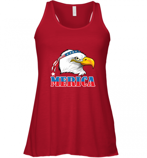 Eagle Mullet 4th Of July American Flag Merica USA Racerback Tank