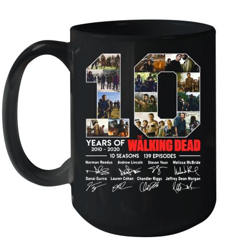 10 Years Of The Walking Dead Signature Ceramic Mug 15oz