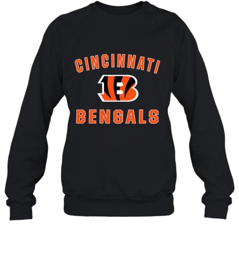 5onw cincinnati bengals nfl pro line gray victory sweatshirt 35 front black