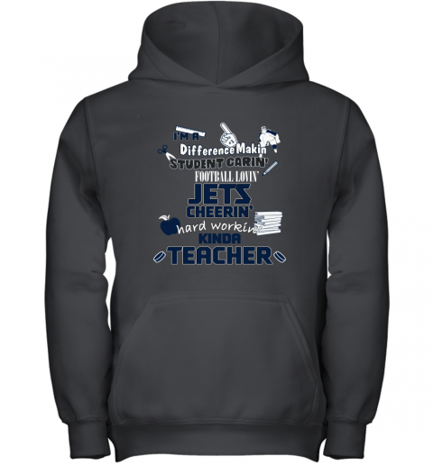 WINNIPEG JETS  I'm A Difference Making Student Caring Hockey Loving Kinda Teacher Youth Hoodie