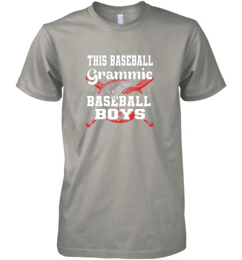 yoca this baseball grammie loves her baseball boys premium guys tee 5 front light grey