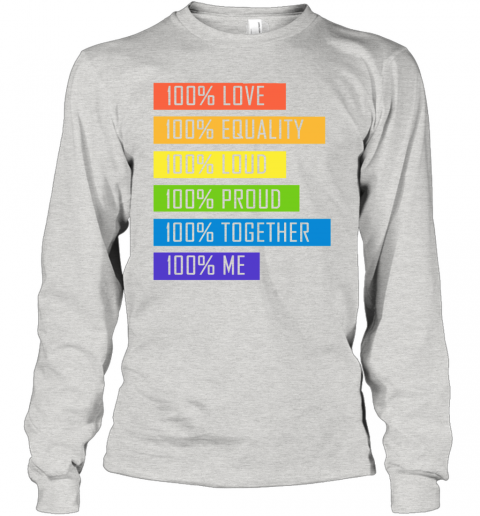 nbxz 100 love equality loud proud together 100 me lgbt youth long sleeve 50 front ash