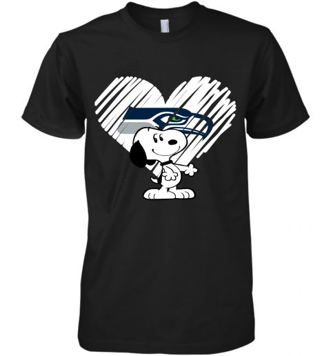 A Happy Christmas With Seattle Seahawks Snoopy Premium Men's T-Shirt