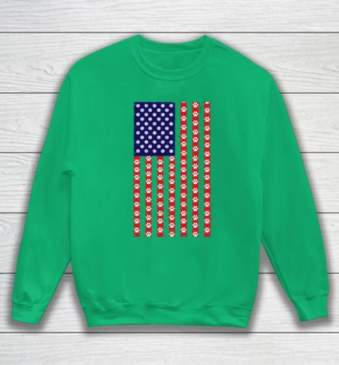 Volleyball Dog Lover American Flag Sweatshirt 5