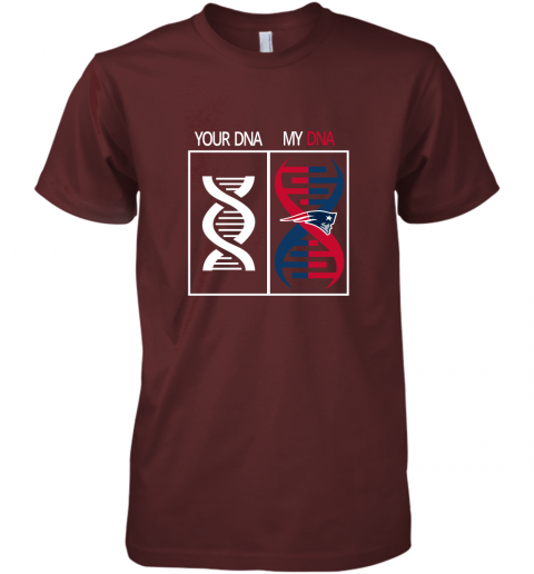 xzvx my dna is the new england patriots football nfl premium guys tee 5 front maroon