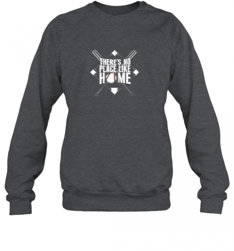 xloi there39 s no place like home baseball tshirt mom dad youth sweatshirt 35 front dark heather