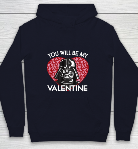 Star Wars You Will Be My Valentine Darth Vader Youth Hoodie 2