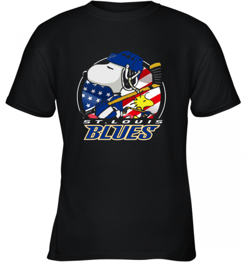 St Louis Blues   Snoopy And Woodstock NHL Youth T-Shirt