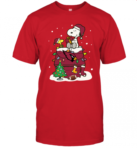 wrxs a happy christmas with arizona cardinals snoopy jersey t shirt 60 front red