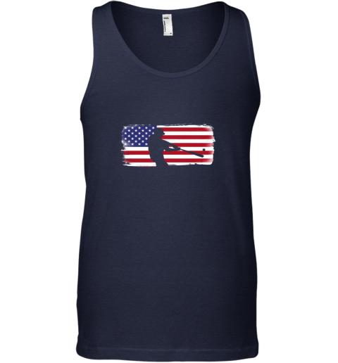ndma usa american flag baseball player perfect gift unisex tank 17 front navy