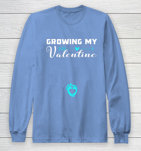 Cute Growing my Valentine Gift for Women pregnancy Long Sleeve T-Shirt 8