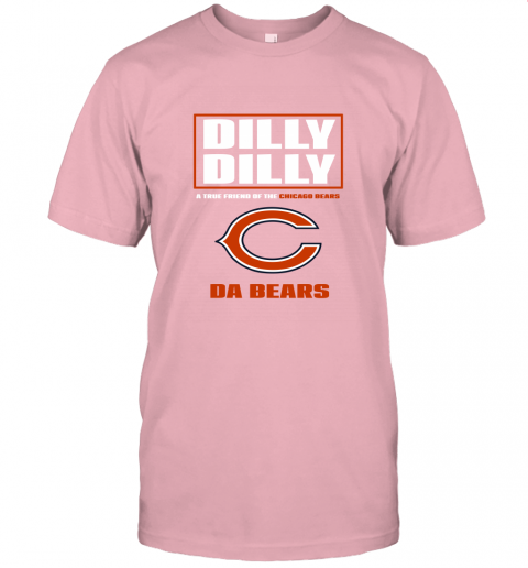 7nyu dilly dilly a true friend of the chicago bears jersey t shirt 60 front pink