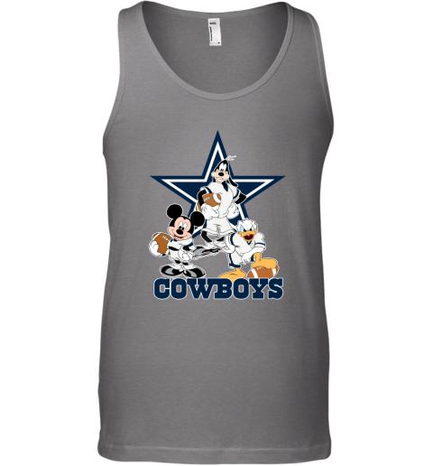 Mickey Donald Goofy The Three Dallas Cowboys Football Tank Top
