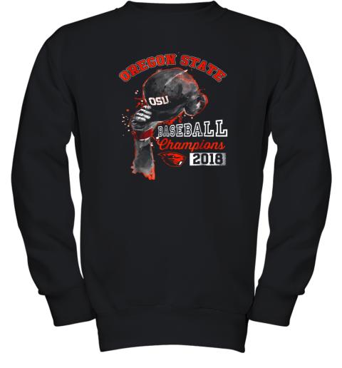 Oregon State Beavers Rising Baseball Helmet Champion Youth Sweatshirt