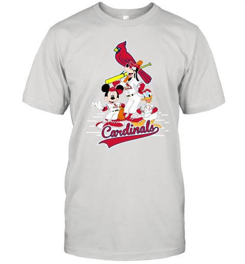 St. Louis Cardinals Mickey Donald And Goofy Baseball Unisex Jersey Tee
