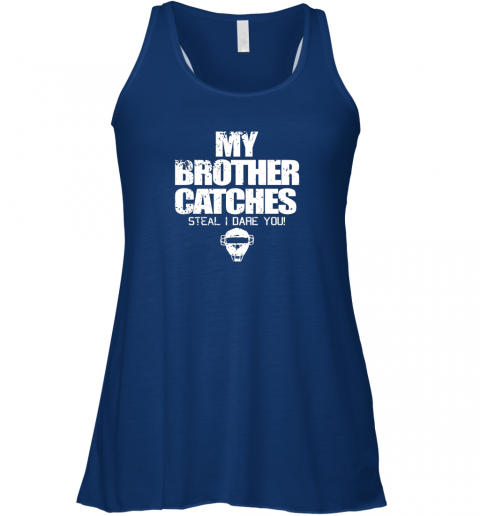 xd9n cool baseball catcher funny shirt cute gift brother sister flowy tank 32 front true royal