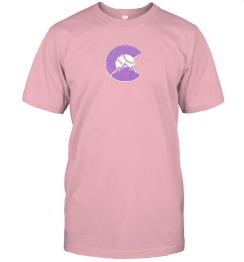 pog3 colorado rocky mountain baseball sports team jersey t shirt 60 front pink