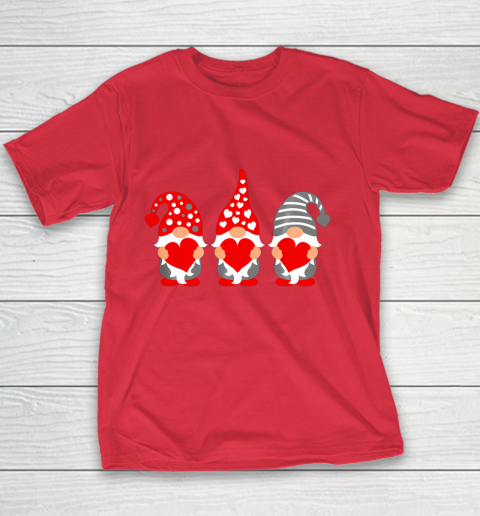 Gnomes Hearts Valentine Day Shirts For Couple Youth T-Shirt 7