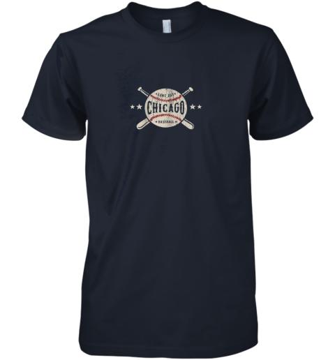 cpst chicago illinois il shirt vintage baseball graphic premium guys tee 5 front midnight navy