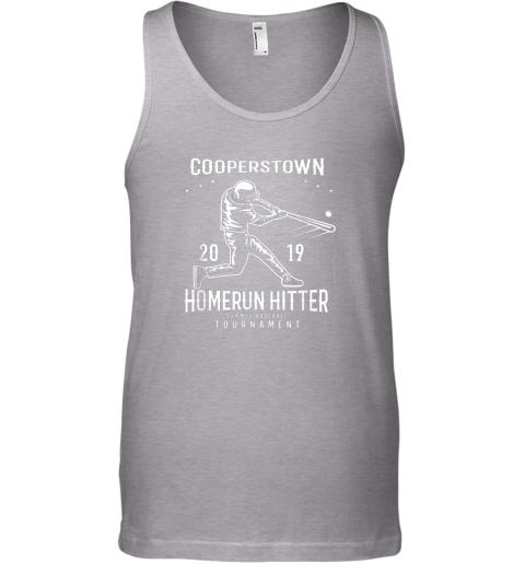 ixo1 cooperstown home run hitter unisex tank 17 front sport grey