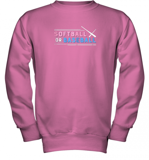 jlj7 softball or baseball shirt sports gender reveal youth sweatshirt 47 front safety pink