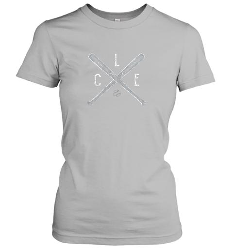 j29o vintage cleveland baseball shirt cleveland ohio ladies t shirt 20 front sport grey
