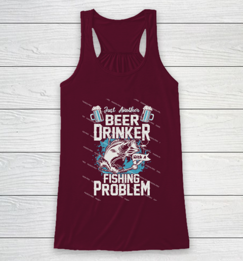 Beer Lover Funny Shirt Fishing ANd Beer Racerback Tank 2