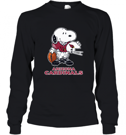 Snoopy A Strong And Proud Arizona Cardinals NFL Youth Long Sleeve