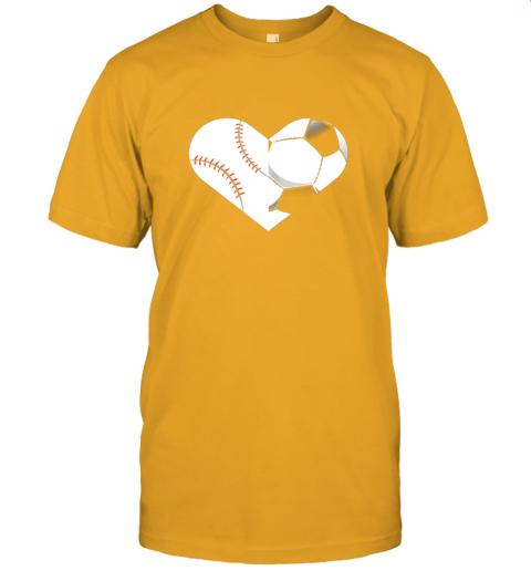 lbed soccer baseball heart sports tee baseball soccer jersey t shirt 60 front gold