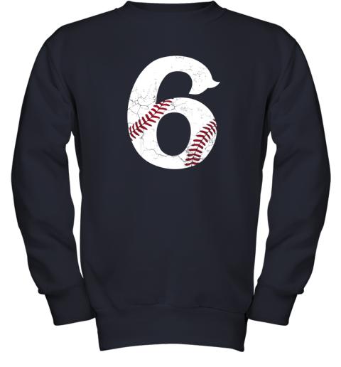wmvt kids happy birthday 6th 6 year old baseball gift boys girls 2013 youth sweatshirt 47 front navy