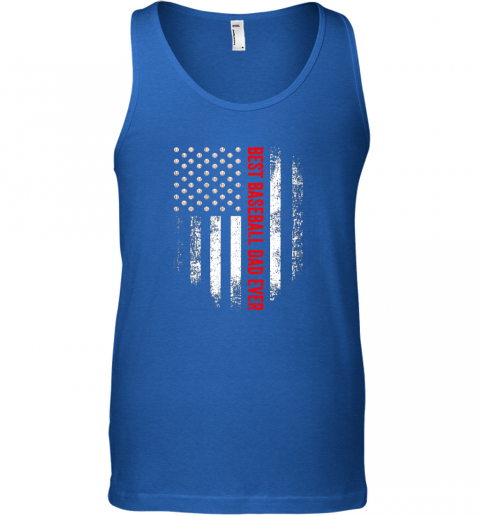 mnwd vintage usa best baseball dad ever american flag daddy gift unisex tank 17 front royal