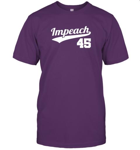 wqwp impeach donald trump 45 baseball logo jersey t shirt 60 front team purple