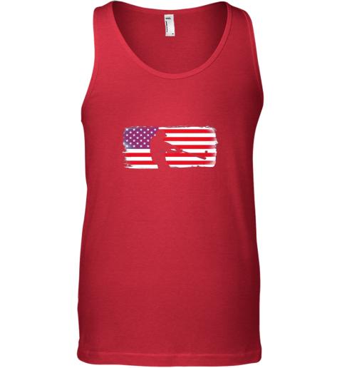ndma usa american flag baseball player perfect gift unisex tank 17 front red