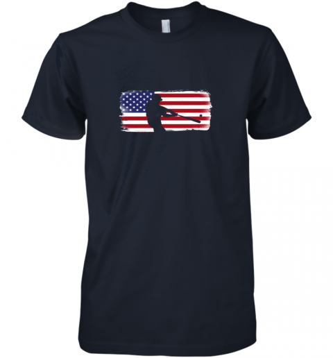 tk9z usa american flag baseball player perfect gift premium guys tee 5 front midnight navy