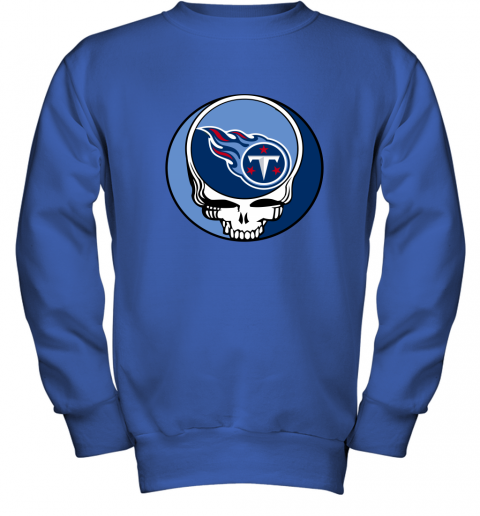 kw6l nfl team tennessee titans x grateful dead logo band youth sweatshirt 47 front royal