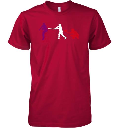 ts52 baseball usa flag american tradition spirit premium guys tee 5 front red