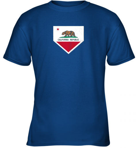 odug vintage baseball home plate with california state flag youth t shirt 26 front royal