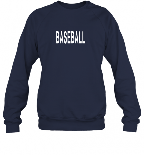 cyws shirt that says baseball sweatshirt 35 front navy