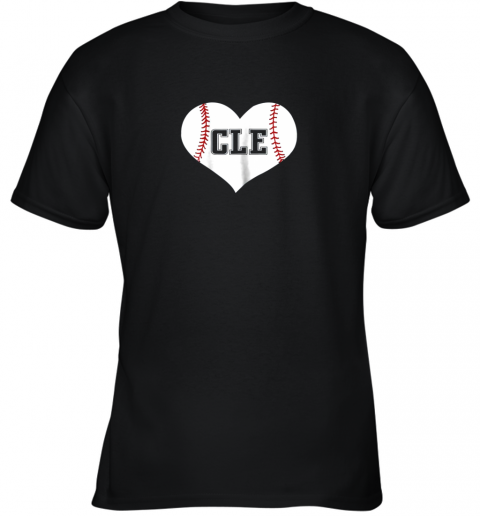 Cleveland Ohio Baseball Love Heart CLE Gift Jersey Fan Youth T-Shirt