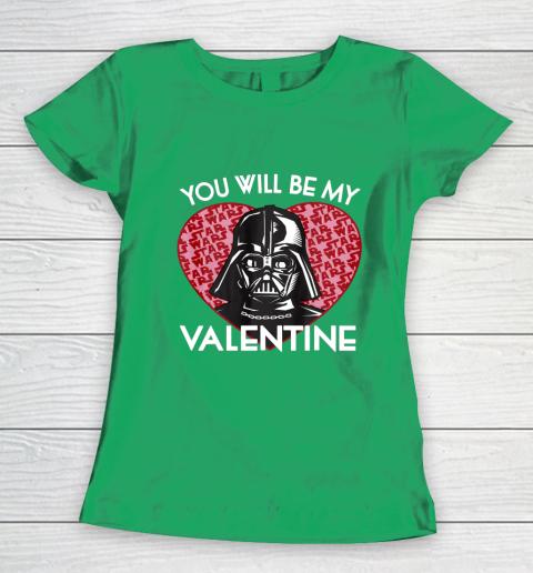 Star Wars You Will Be My Valentine Darth Vader Women's T-Shirt 5