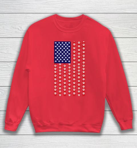 Volleyball Dog Lover American Flag Sweatshirt 7