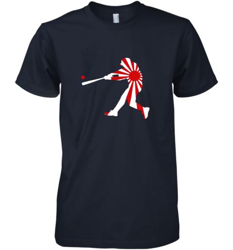 hp4t japan baseball shirt jpn batter classic nippon flag jersey premium guys tee 5 front midnight navy