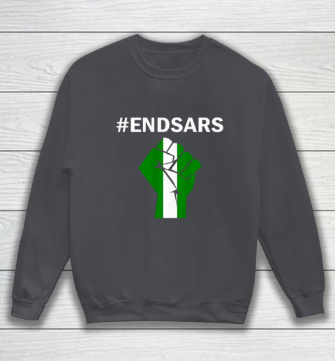 EndSARS End SARS Nigeria Flag Colors Strong Fist Protest Sweatshirt 4