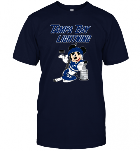 rcnl mickey tampa bay lightning with the stanley cup hockey nhl jersey t shirt 60 front navy