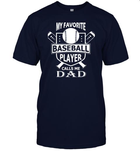 qovj mens my favorite baseball player calls me dad jersey t shirt 60 front navy