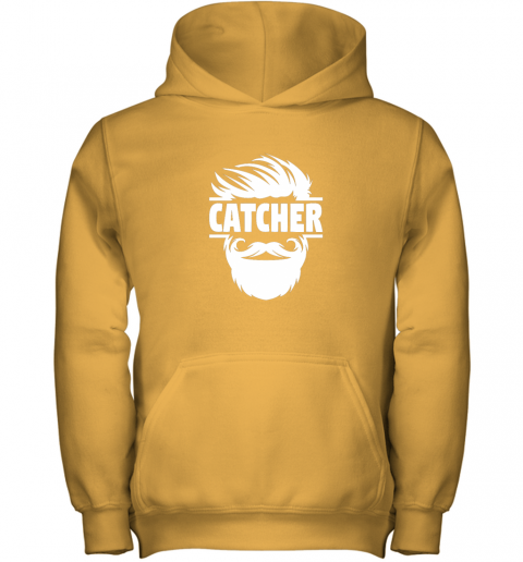 nmt7 bearded baseball catcher youth hoodie 43 front gold